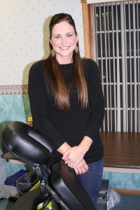 Brynne Winegar began offering massage therapy services at the Diamond Trail Fitness Center in December.