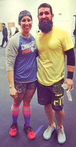 Sam and Tim Collins after a recent CrossFit competition.