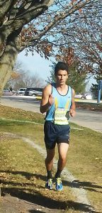 Senior Luke Jones competes in his last cross-country meet as an L-SHawk after being out with an injury.