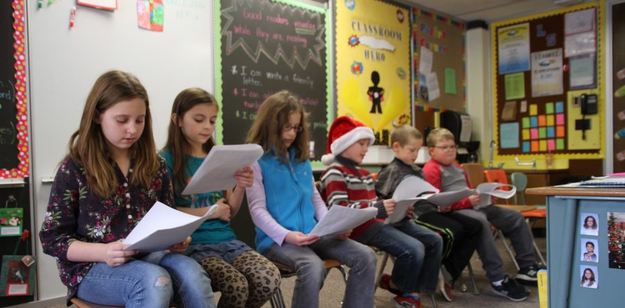L-S third graders host holiday readers' theaters