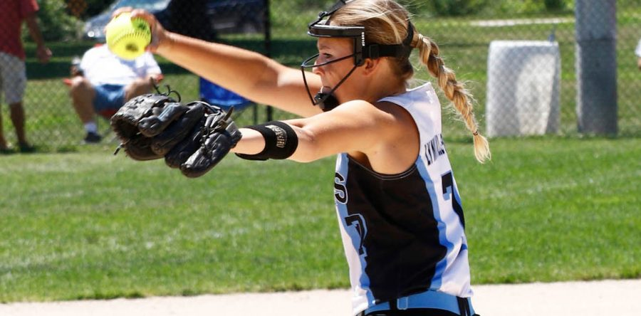 Hawk softball team ties for third in conference