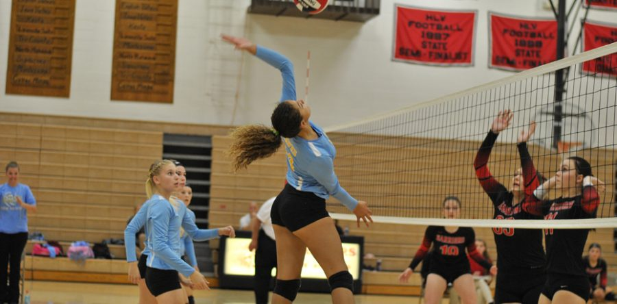 Hawk VB girls split against SICL teams