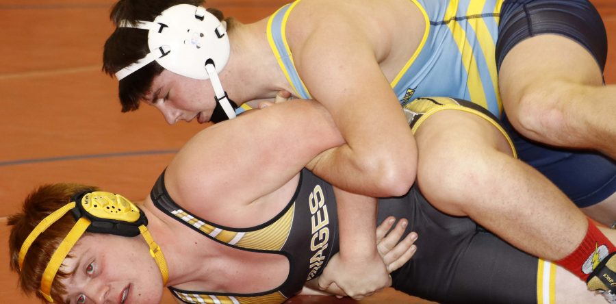Hawk wrestlers fall to C-M and S-K, beat host HLV