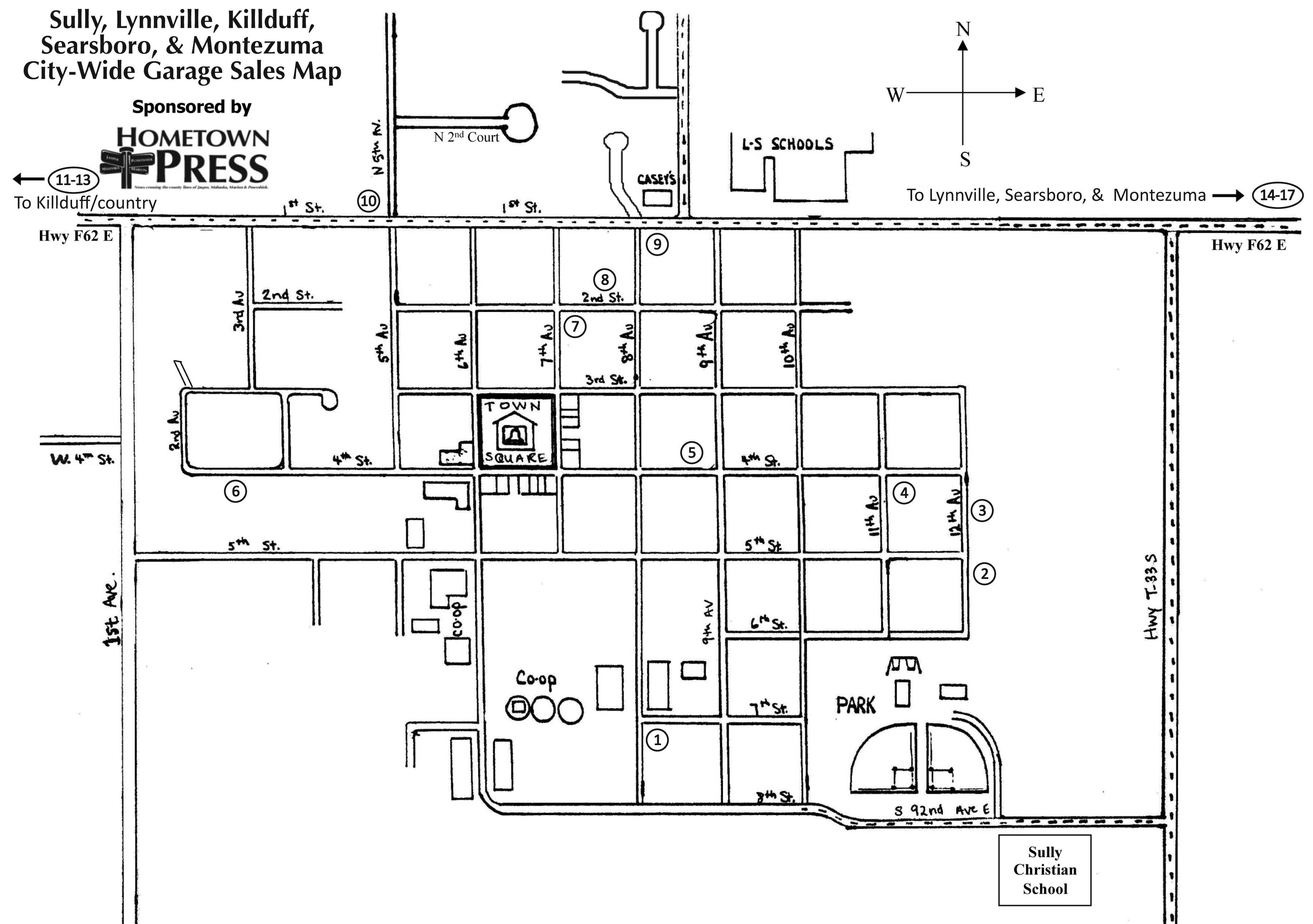 City Wide Garage Sales Map And List Hometown Press
