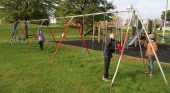 Grant funding provides Lynnville playground with pops of color