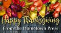 Giving thanks with grateful hearts