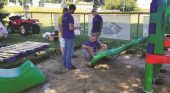 New playground equipment geared toward toddlers installed at Lynnville park
