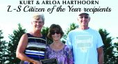 Citizen of the Year presented to longtime L-S supporters, Kurt and Arloa Harthoorn